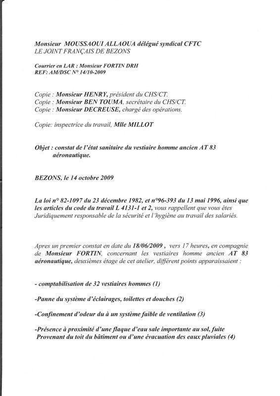 Modele lettre candidature election delegue du personnel for Election chsct